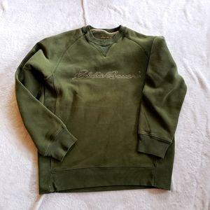 Eddie Bauer sweatshirt green womens S crew neck